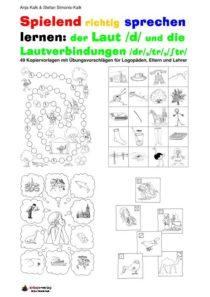 Spielend richtig sprechen lernen: der Laut /d/ Übung 00 - Inhaltsverzeichnis D, TR,STR_01