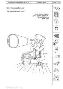 Spielend richtig sprechen lernen: der Laut /k/ Übung 17 - Blick durch das Fernrohr1