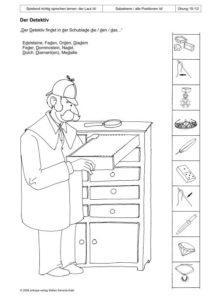 Spielend richtg sprechen lernen: der Laut /d/ Übung 19 - Der Detektiv_01