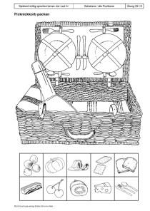 Spielend richtig sprechen lernen: der Laut /k/ Übung 29 - Picknickkorb packen1