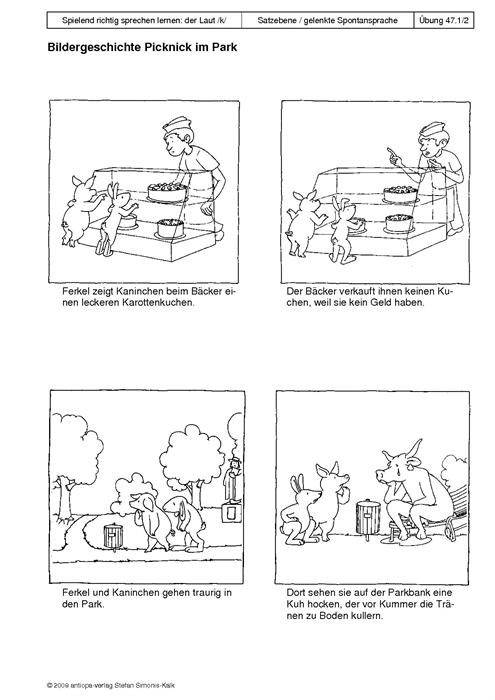 220bung 47 bildergeschichte picknick im park1 antiopaverlag