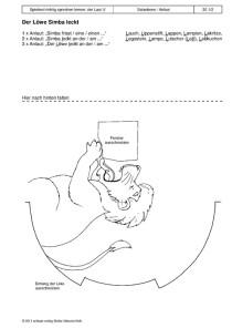 Spielend richtig sprechen lernen: der Laut /l/ 20 - Der Löwe Simba leckt1
