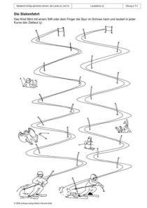 Spielend richtig sprechen lernen: die Laute /ç/ und /x/ Übung 02 - Die Slalomfahrt_01