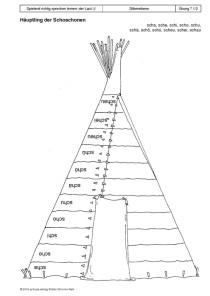 Spielend richtig sprechen lernen: der Laut /∫/ Übung 07 - Haeuptling der Schoschonen1