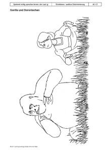 Spielend richtig sprechen lernen: der Laut /g/ Übung 46 - Gorilla und Dornröschen1